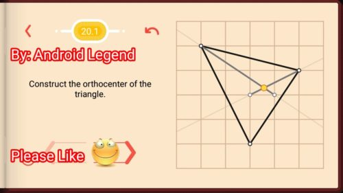 Pythagorea Level 20.1: Construct the Orthocenter of the triangle.