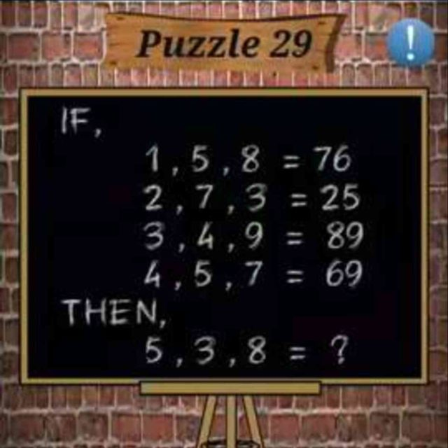 Math Puzzles Game Level 29 Answer With Solution 187 Puzzle