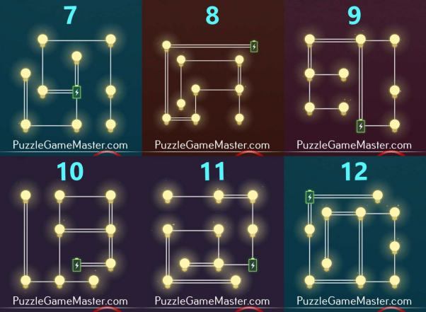 All Light : Pack E Level (1-12) Solutions » Puzzle Game Master
