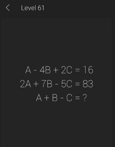 Math Riddles App Level 61 Solution Android Puzzle Game Master