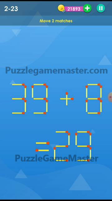 Smart Puzzle Collection Matches 2-23 Answer