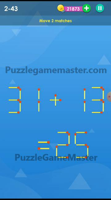 Smart Puzzle Collection Matches 2-43 Answer