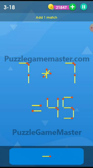 Smart Puzzle Collection Matches 3-18 Answer
