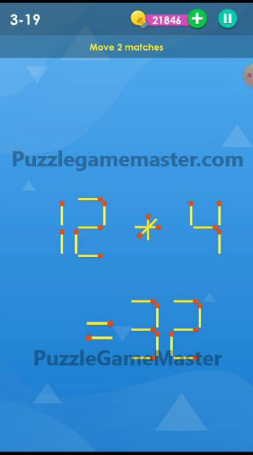 Smart Puzzle Collection Matches 3-19 Answer