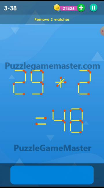Smart Puzzle Collection Matches 3-38 Answer