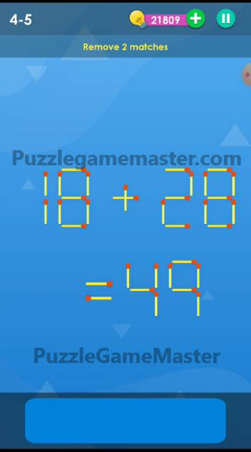 Smart Puzzle Collection Matches 4-5 Answer