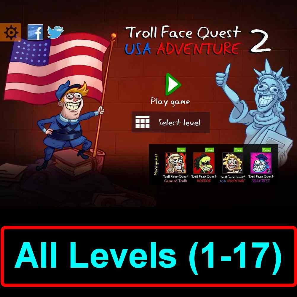 Troll Face Quest Usa Adventure 2 All Levels Hints Walkthrough Puzzle Game Master