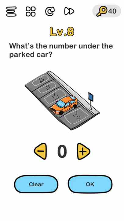Brain Out Level 8 What S The Number Under The Parked Car Answer Puzzle Game Master