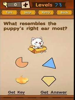 Super Brain Level 73 Solution Puppy S Right Ear Puzzle Game