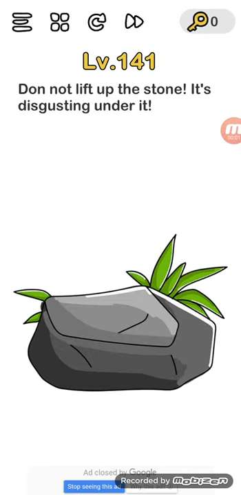Brain Out Level 137 Solution Do Not Lift Up The Stone Puzzle Game Master