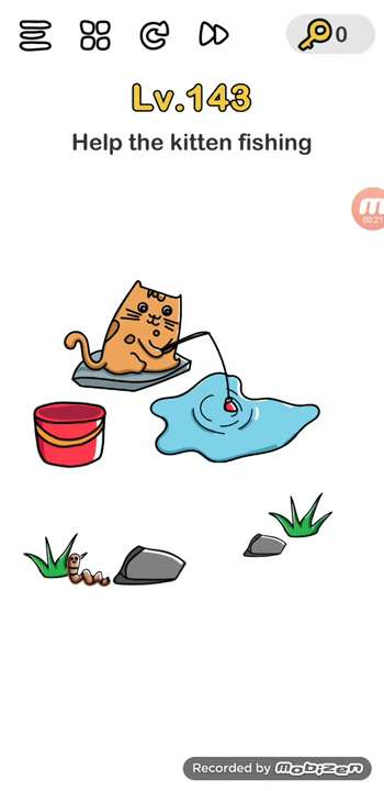 Brain Out Level 143 Solution Help The Kitten Fishing