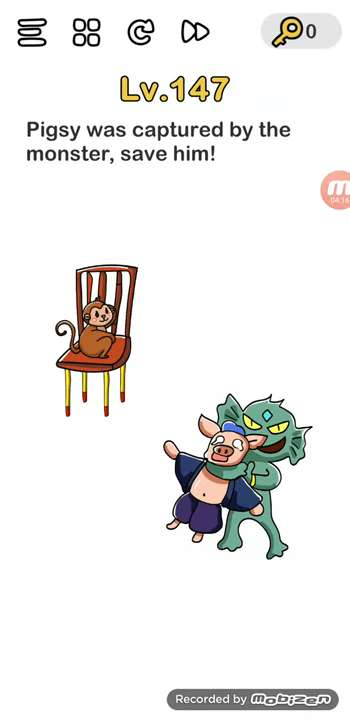 Brain Out Level 143 Solution Pigsy Was Captured By Monster