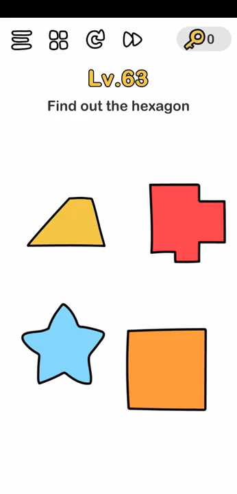Brain Out Level 61 Solution Find Out The Hexagon Puzzle Game