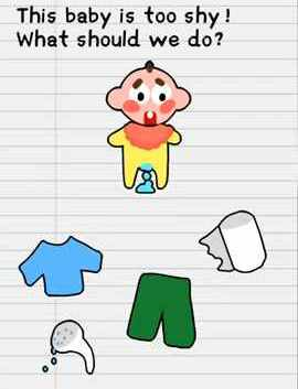 Stump Me Level 84 This Baby Is Too Shy What Should We Do Solution Puzzle Game Master