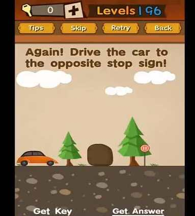 Super Brain Level 196 Solution Again Drive The Car To The