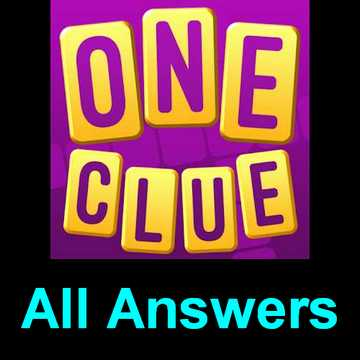 One Clue Crossword Answers All Chapters 45 In One Page Puzzle Game Master