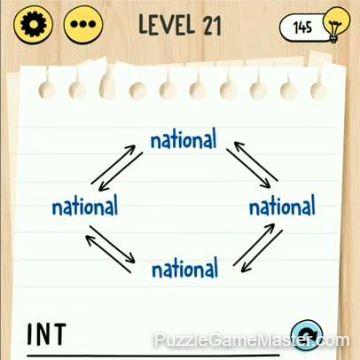 Brain Test Tricky Words level 21